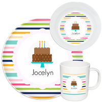 Birthday Girl Cake Melamine Set