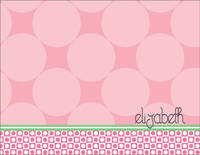 Blush Circles Foldover Card