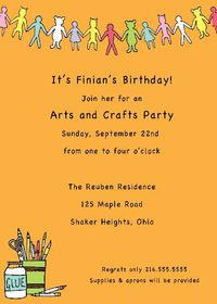 Art and Crafty Invitation SSI03