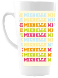 Name Gradient Girl Ceramic Coffee Mug