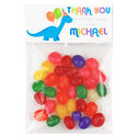 Blue Dino Birthday Party Candy Bag Favors