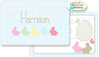 Bunny Line Blue Dry Erase Placemat