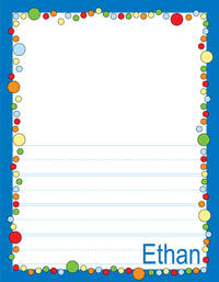 Bubbles Boy Kindergarten Drawing Pad