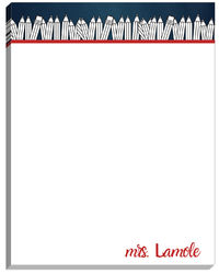 Black and White Pencil Large Notepad
