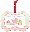 Baby First Pram Girl Aluminum Ornament