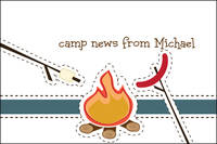 Camp Fire Roast Postcard