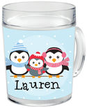 Winter Penguins Clear Acrylic Mug