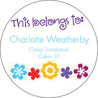 Flower Power Camp Stickers
