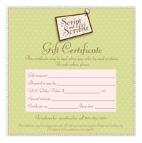 A Gift Certificate VIA MAIL