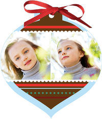 Brown Wishes Ornament Card