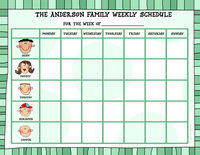 Green Stripes Weekly Schedule Pad CWSP