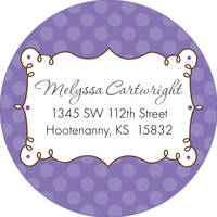 Cafe Lavender Return Address Label