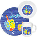 Colorful Dreidels Melamine Set
