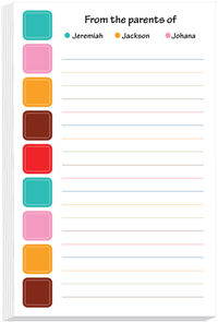 Spring Squares Note Pad
