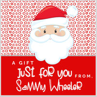 Dotted Santa Gift Stickers