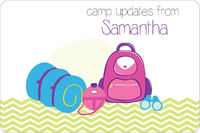 Camp Supplies Girl Postcard