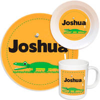 Alligator Chomp Melamine Set