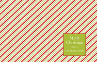 Peppermint Stripes Paper Placemats