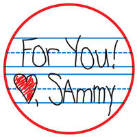 Handwritten Valentine Sticker