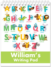 Animal Letters Boy Penmanship Book