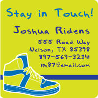 Colorful Sneakers Calling Card