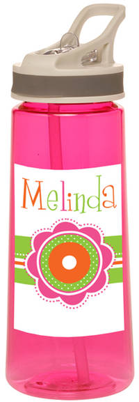 Dotted Flowers Water Bottle