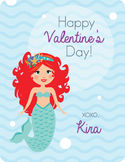 Mermaid Valentine's Card