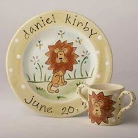 Lion Hand Painted Plate SL13P