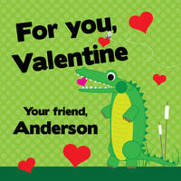 Gator Love Valentine's Stickers