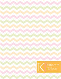 Colorful Chevron Large Notepad