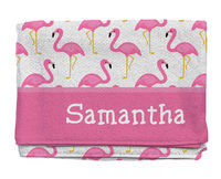 Fancy Flamingos Beach Towel