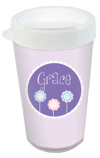 Cutesy Flowers Clear Acrylic Tumbler