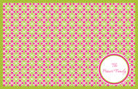 Fuchsia Circles Paper Placemats