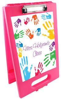 Colorful Hands Clipboard Storage Case