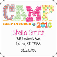 Camp Friends Girl Calling Card