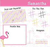 Fancy Flamingos Games Writing Board