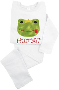Frog Applique & Embroidered Loungewear