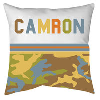 Camo Boy Autograph Camp Pillow
