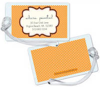 Chocolate Orange Frame Luggage Tag
