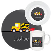 Construction Truck Valentine Melamine Set