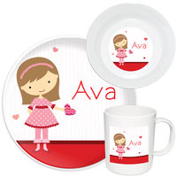 Be Mine Girl Melamine Set