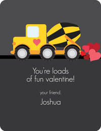 Construction Truck Valentine's Card