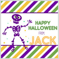 Purple Skeleton Gift Stickers