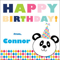 Birthday Panda Gift Stickers