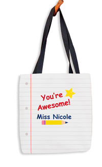 Notebook Note Tote Bag
