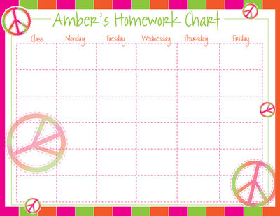 Buy Homework Charts Online, Personalized Homework Charts Gifts & Ideas ...