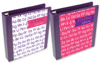 Pink Alphabet Binder Insert Set