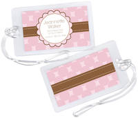 Chocolate Pink Luggage Tag