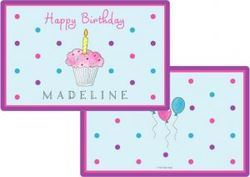 Birthday Cupcake Placemat P-835