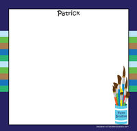 Blue Green Stripes Art Writing Board